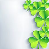 Abstract St. Patrick's Day Background With Leaf Clover