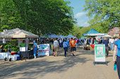 The Williamsburg Farmers Market In Merchants Square