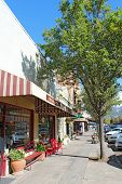 View Along Lincoln Street (highway 29), The Main Road Through Calistoga, California At The Northern