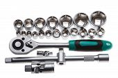 Ratchet Set With Interchangeable Heads