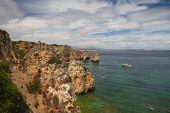 Famous Cliffs Of Ponta De Piedade, Lagos, Algarve, Portugal