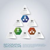 Minimal Paper Cut Infographics Design - Triangles and Hexagons