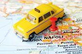 Napoli  Italy Map Taxi