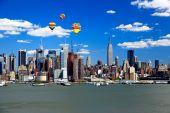 The Mid-town Manhattan Skyline On A Sunny Day