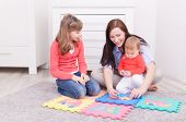 playing learning teaching family mother