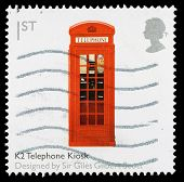 Britain Red Telephone Box Postage Stamp