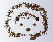 Cute porcupine vector