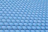 Blue Seat In Sport Stadium