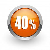 40 percent orange glossy web icon