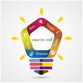 Creative Infographics Light Bulb Idea