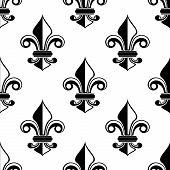 Classical French fleur-de-lis pattern