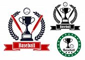 Baseball badges or emblems