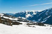 Ski Area In Saalbach Hinterglemm Region, Austria