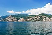 Lake Garda From Malcesine Town, Italy