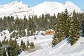Mountain Skiing Area In Portes Du Soleil Region