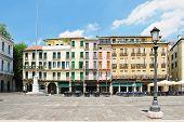 Houses On Piazza Dei Signori In Padua, Italy