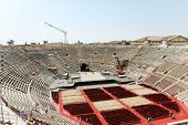 Above View Of Interior Amphitheater Verona Arena