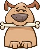 Mood Busy Dog Cartoon Illustration