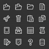 Document web icon set 2, grey set