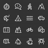 Travel web icon set 3, grey set