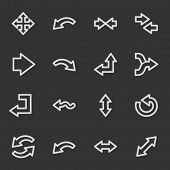 Arrows web icons, grey set