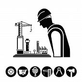 project management, construction icons