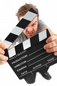 Man And Clapboard