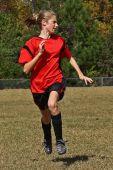 soccer player running
