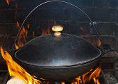 Preparing large dish