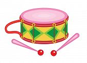 cute toy drum (vector illustration)