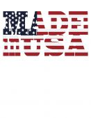 Made in USA logo based on American Flag