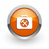 toolkit orange glossy web icon