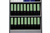 Folders Standing On The Shelves