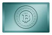 Cyan Bitcoin Metal Texture