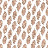 Vector Seamless pattern with decorative  feather?