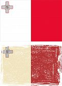 Maltese grunge flag. Vector illustration