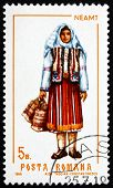 Postage Stamp Romania 1968 Woman From Neamt, Costume