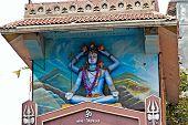 image of shiva  - FEBRUARY 2 2014 AHMEDABAD GUJARAT INDIA  - JPG