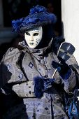 Black And Blue Mask At The Carnival Of Venice