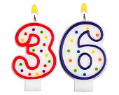 Birthday Candles Number Thirty Six