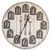 Retro Vintage Wall Clock Isolated