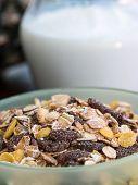 Muesli Breakfast Indicates Cereal Natural And Milk
