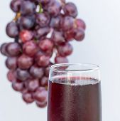 Grapes And Juice Represents Organic Products And Beverage