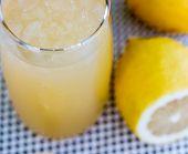 Lemonade Glass Shows Organic Citrus And Homem
