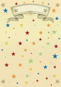 Multicolored stars pattern poster. A multicolored background for your birthday circus event