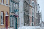 Blizzard in old Quebec city