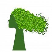 Nature environment woman
