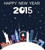 Happy New Year Travel Card.
