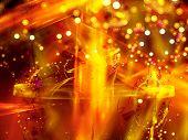 Orange Flame New Year Background
