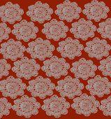 Orange Lace Background